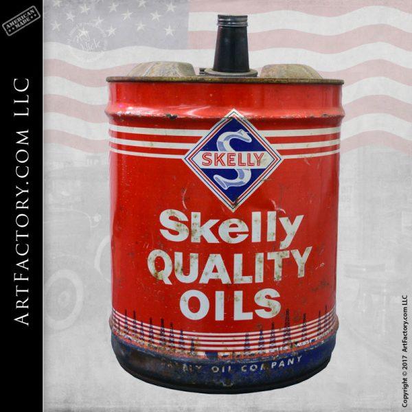 vintage Skelly oil drum