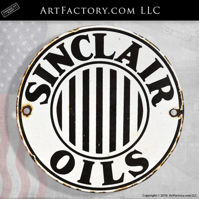 Round Sinclair Oils sign