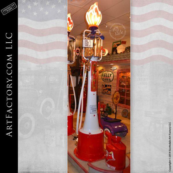 restored Fry Mae West gas pump