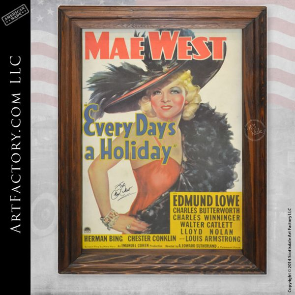 signed Mae West movie poster