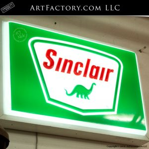 sinclair lighted sign