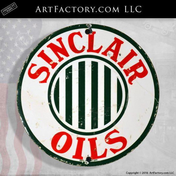 Vintage Sinclair Oils Sign