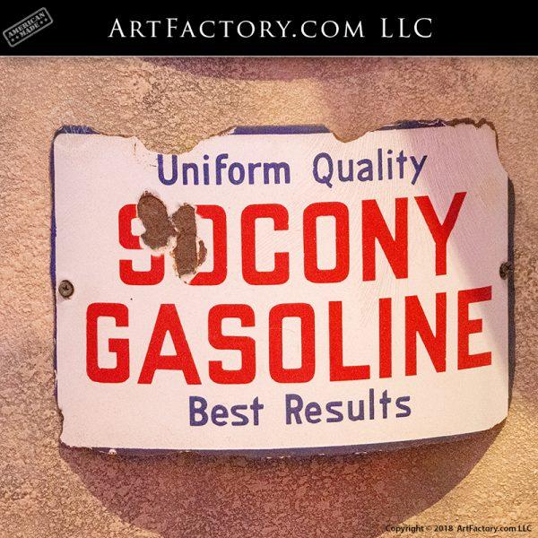 Vintage Socony Gas Pump Sign