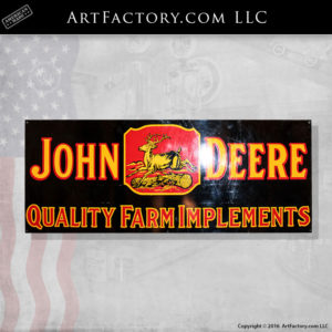 John Deere porcelain sign collecting