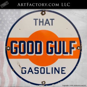 Gullf Oil vintage porcelain sign collecting