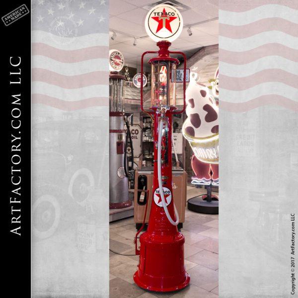 gas pump, vintage restored gas pump, visible gas pumps