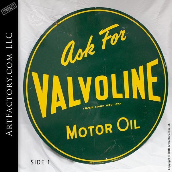 Vintage Valvoline Motor Oil Sign