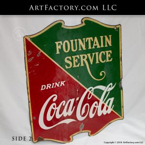 vintage Coca-Cola porcelain sign