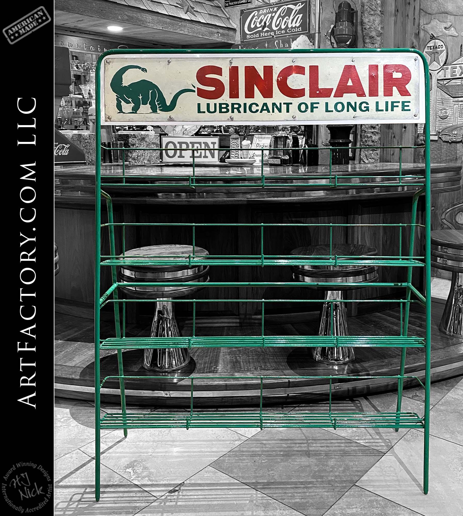 Vintage Sinclair Gasoline Deluxe Oil Rack