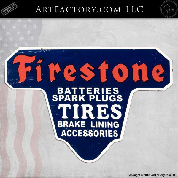 Vintage Firestone Tires Sign