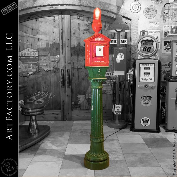 Vintage Game Well Fire Alarm Pole