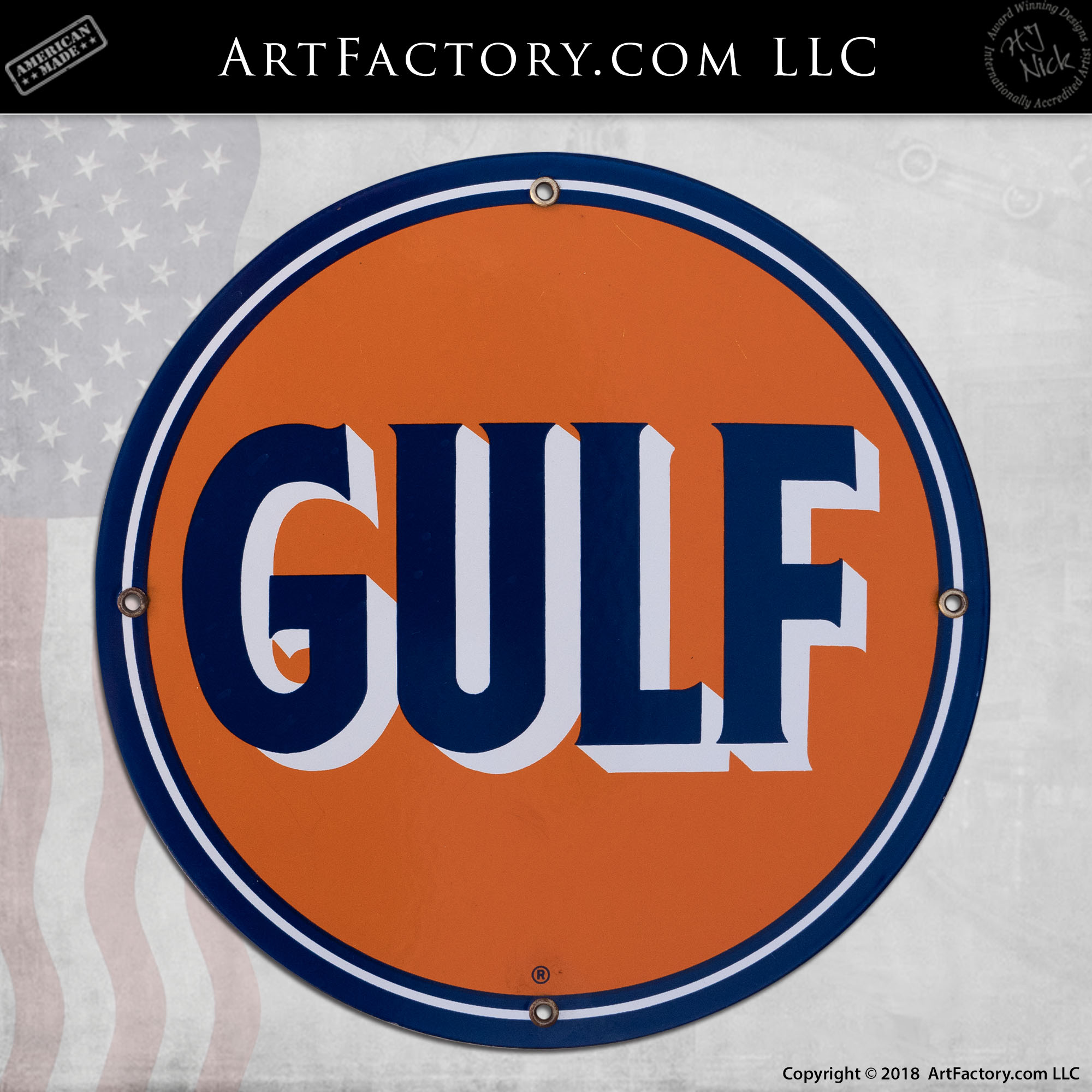 Sign Gulf Oil Circle Sign