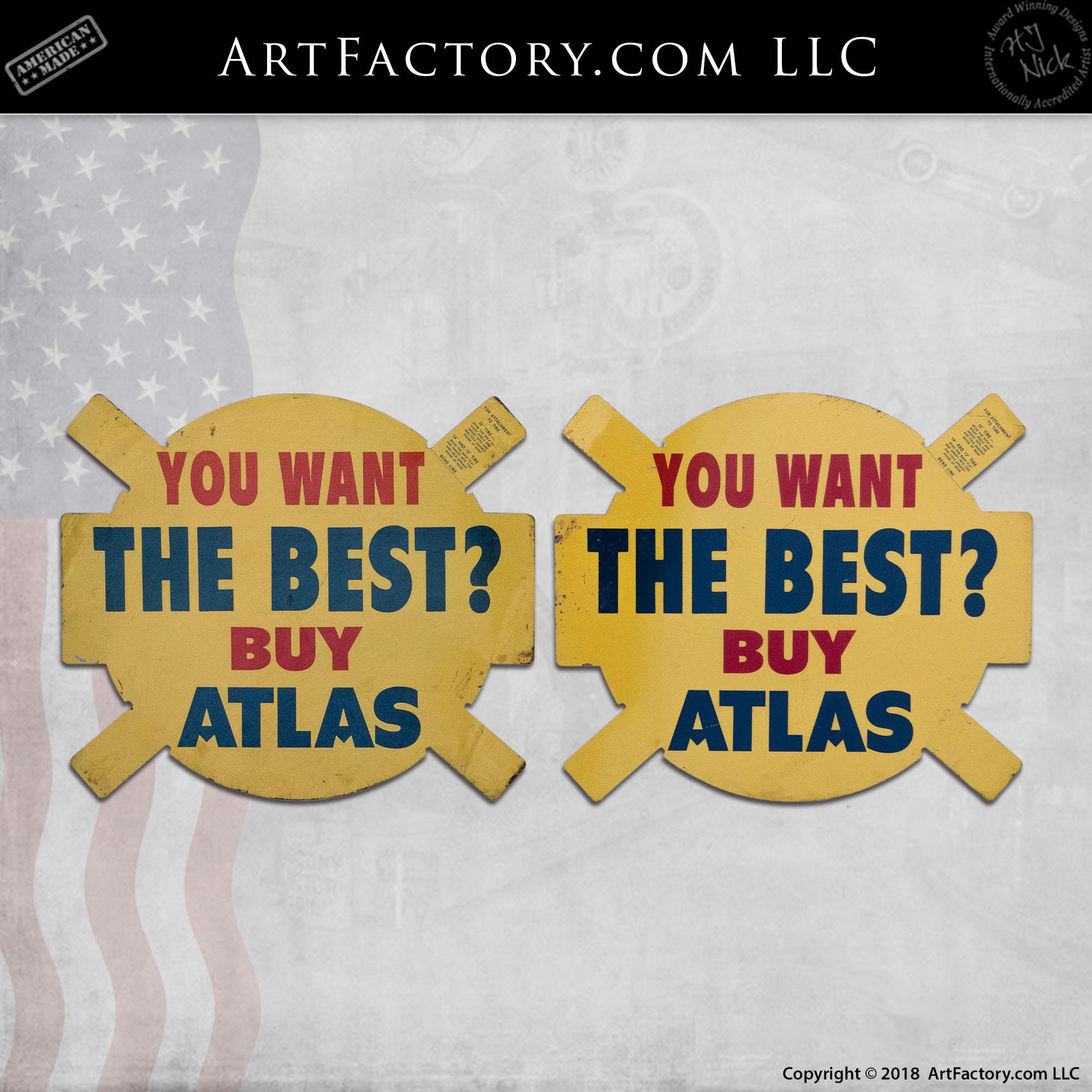 1953 ATLAS TIRE Vintage Look Replica Metal Sign 48 STATE LICENSE PLATES /& CANADA