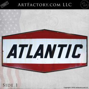 Large Hanging Vintage Atlantic Gasoline Sign