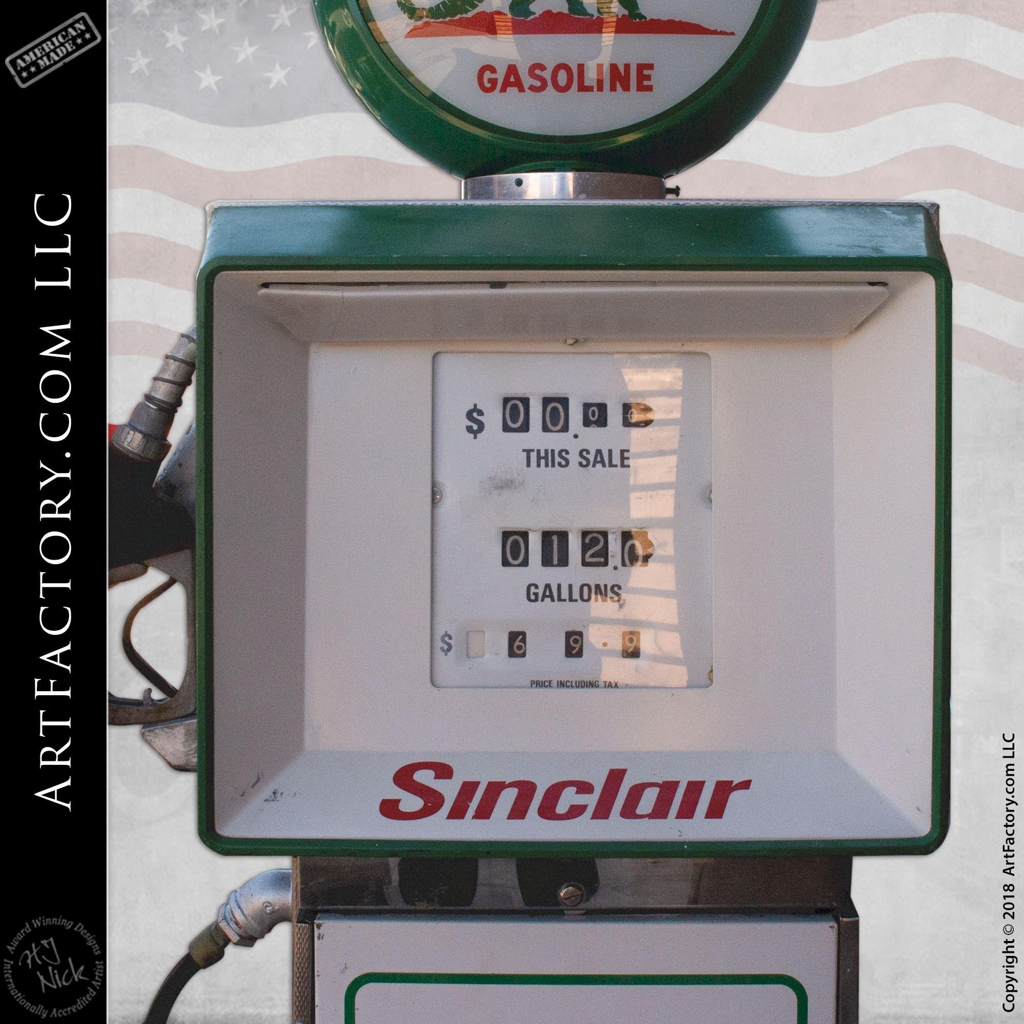 Sinclair Dino Gasoline Fuel Pump