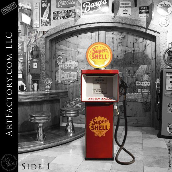 Vintage Shell Gasoline Fuel Pump