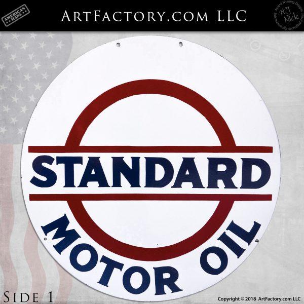 Vintage Standard Motor Oil Double Sided Sign