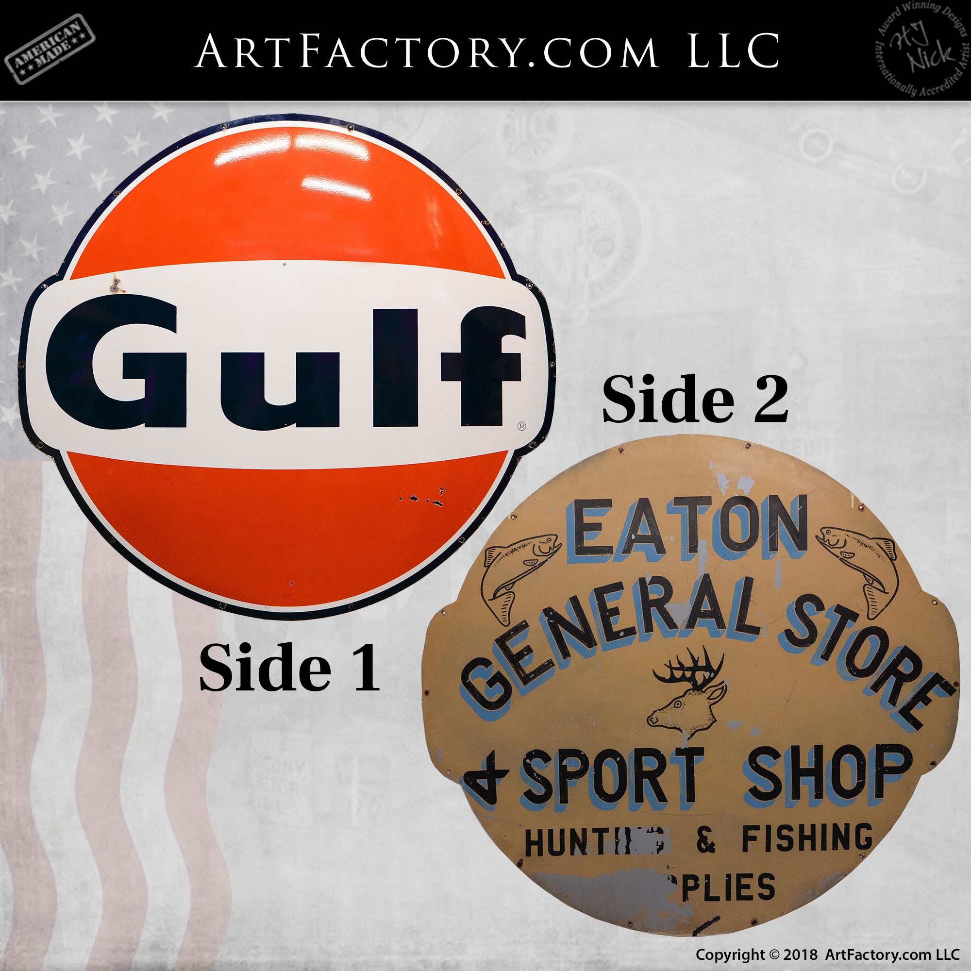 vintage Gulf General Store sign