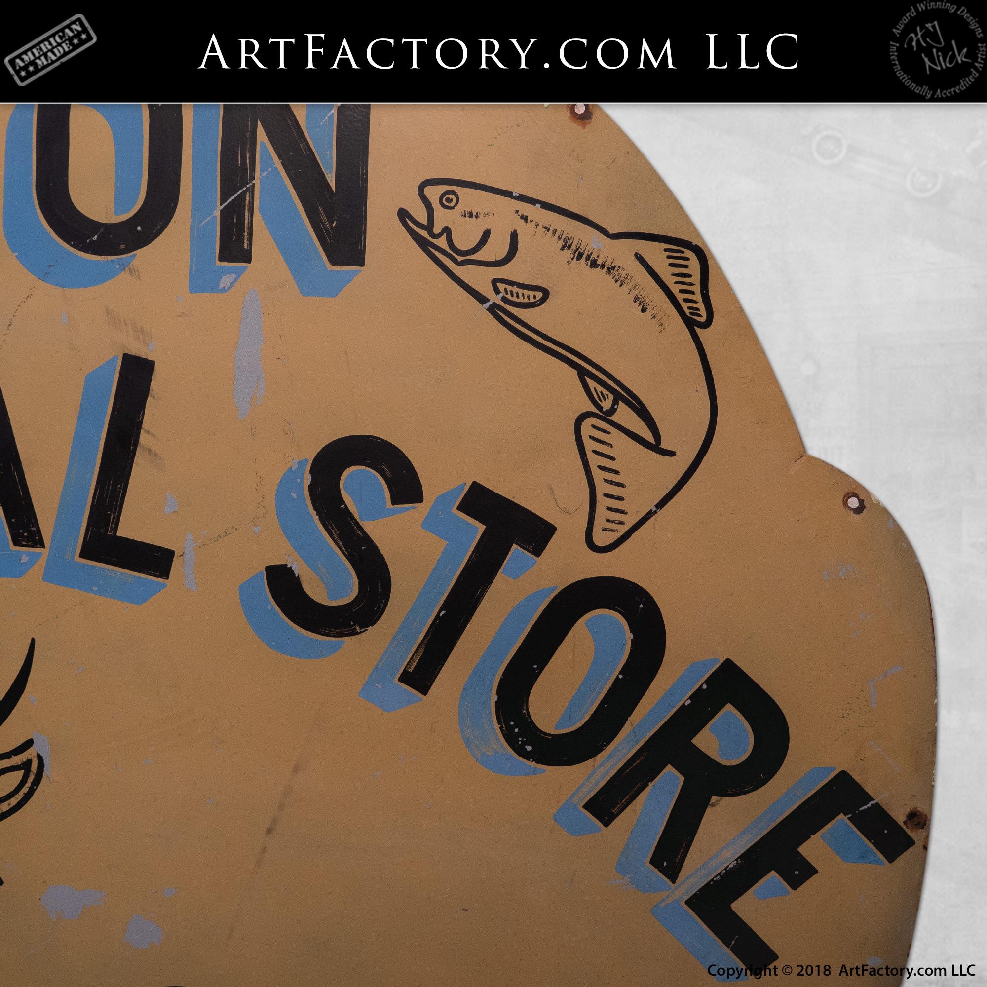 Vintage Die Cut Gulf Sign
