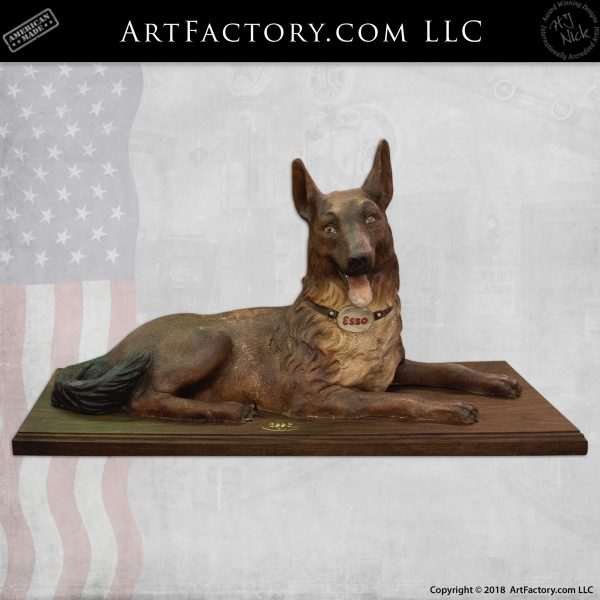 Carved Wood Esso Dog Full Sized