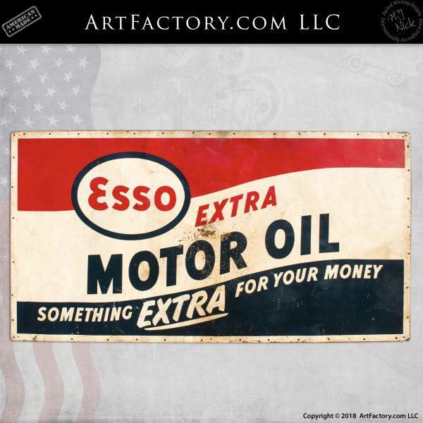 Esso Extra Motor Oil Vintage Sign