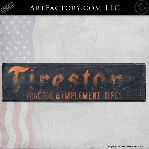 Firestone Tractor and Implements Tire Sign