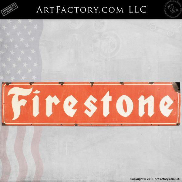 Large Firestone Tires Vintage Sign
