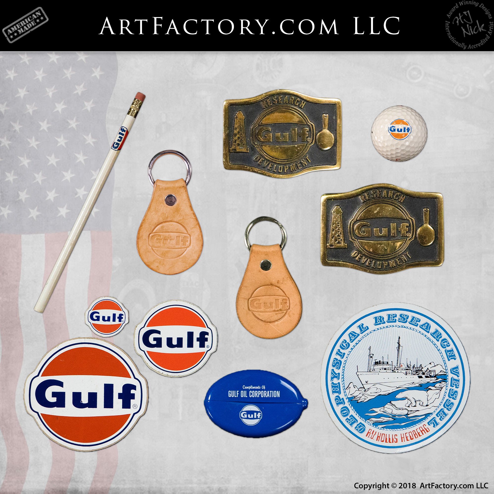 vintage Gulf petroliana collectibles