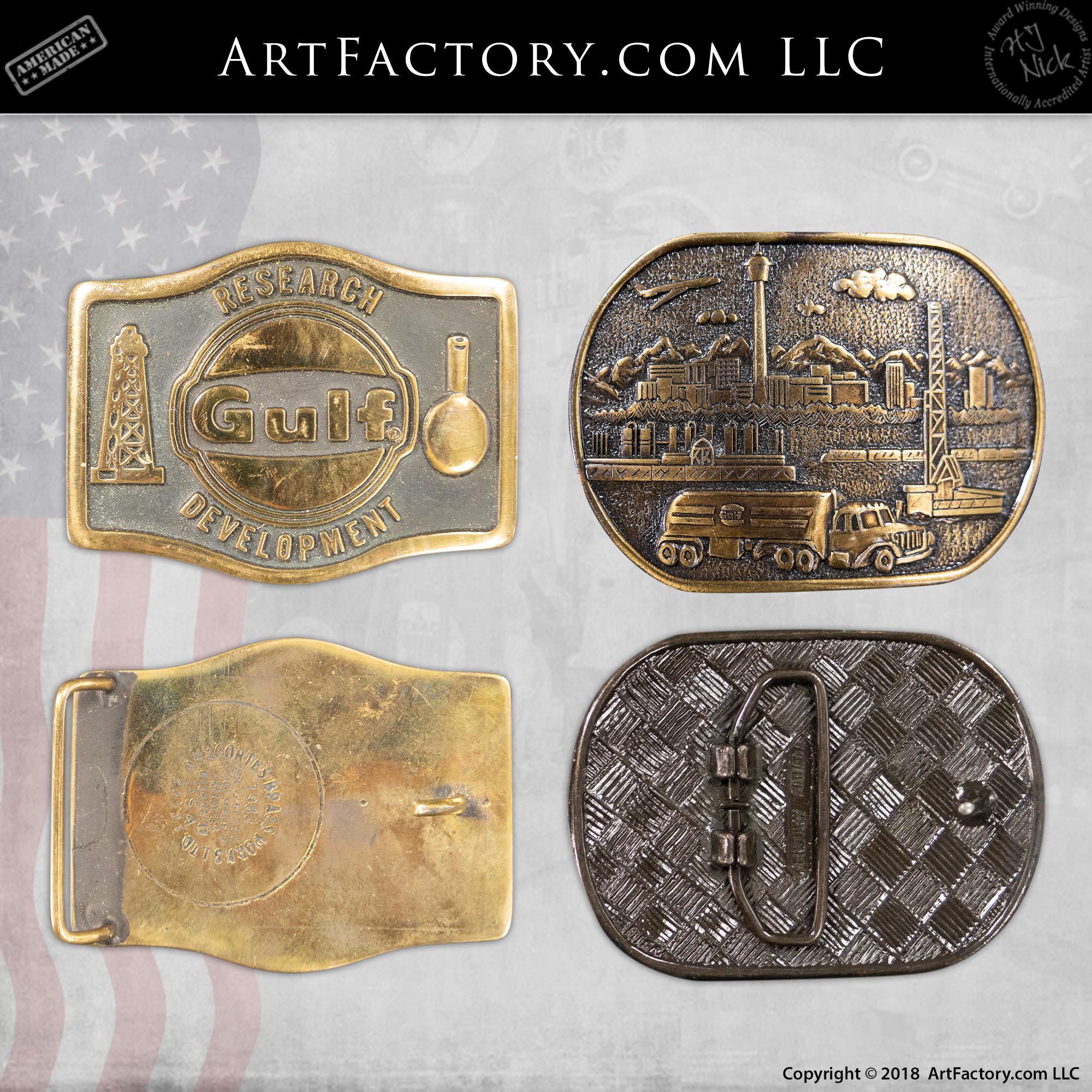 vintage gulf belt buckles