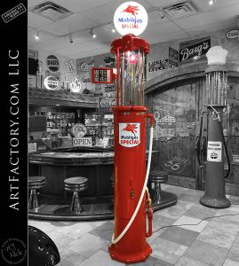Tokheim 620 Visible Gas Pump: Original 1920's Mobil Globe And Signage - TGP0630