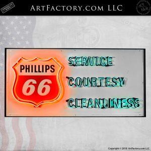 Phillips66 Service Courtesy Sign