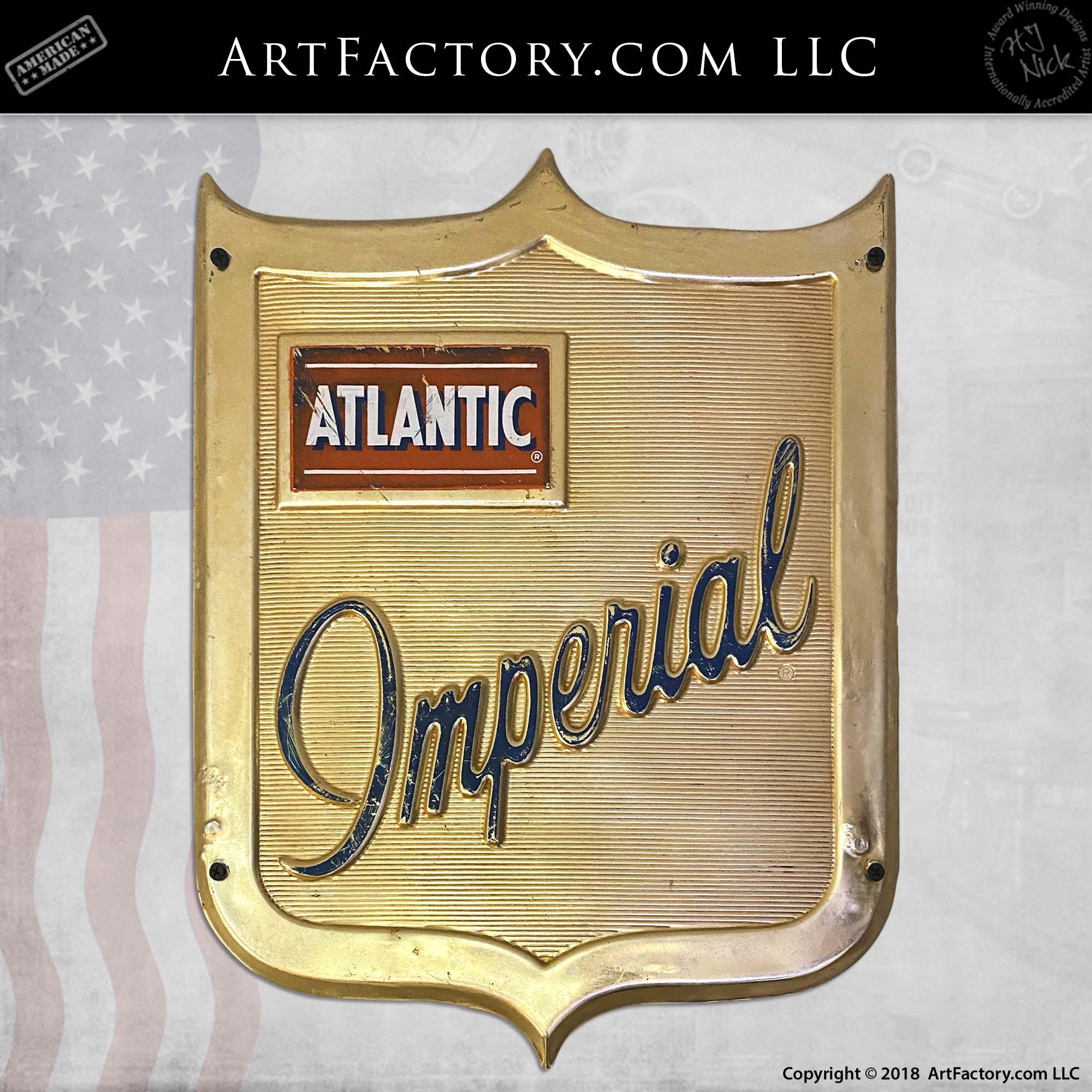 Gulf Sign Gas Logo Die Cut Embossed  Metal Vintage Advertising Tin New USA