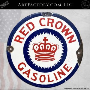 Red Crown Gas Pump Belly Plate