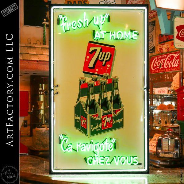 Vintage Neon Canadian 7Up Sign