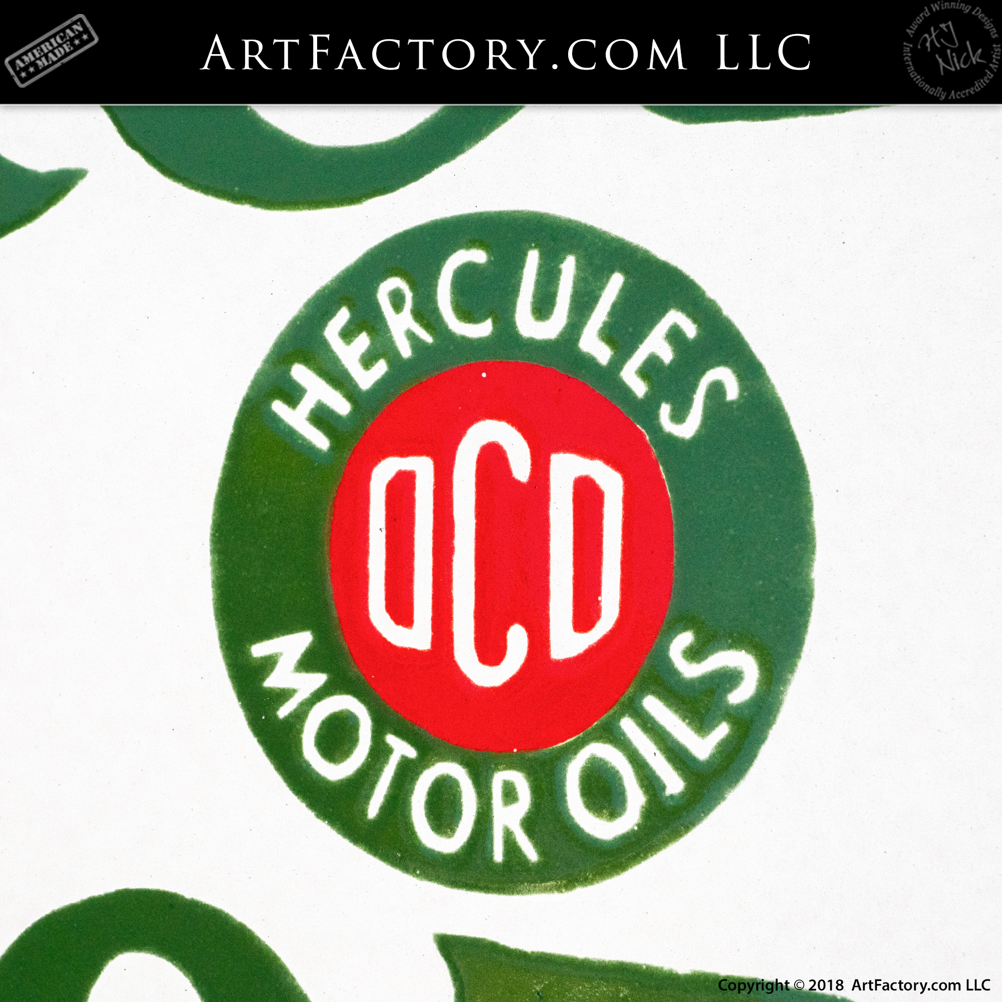 Hercules Motor Oil Sign
