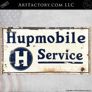 Vintage Hupmobile Service Automotive Sign