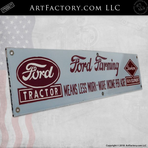 Vintage Ford Tractor Sign