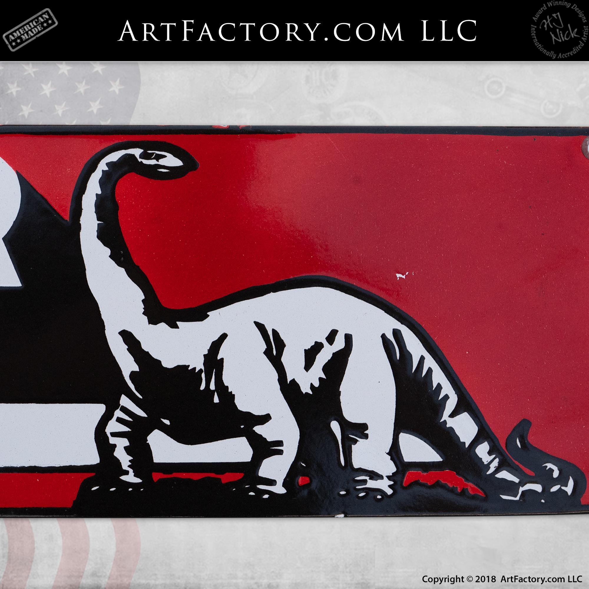 Vintage Sinclair Oil Sign