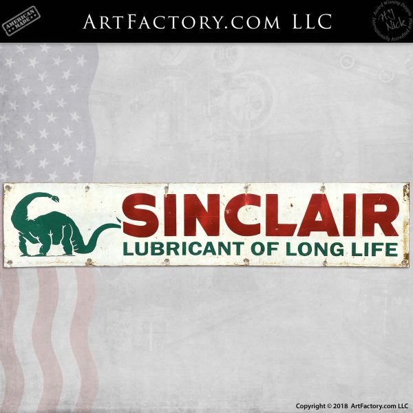 Vintage Sinclair Lubricant of Long Life Sign