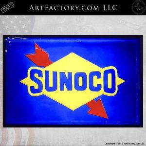Vintage Sunoco Back-Lit Sign