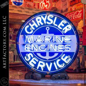 Vintage Neon Chrysler Sign