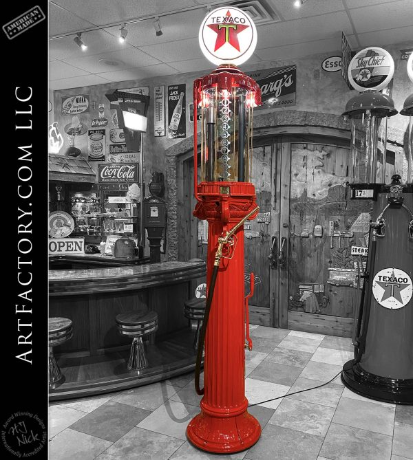 Vintage Rare Texaco Wayne Model 493 Roman Column Gas Pump