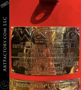 Vintage Wayne 615 Standard White Crown Visible Gas Pump