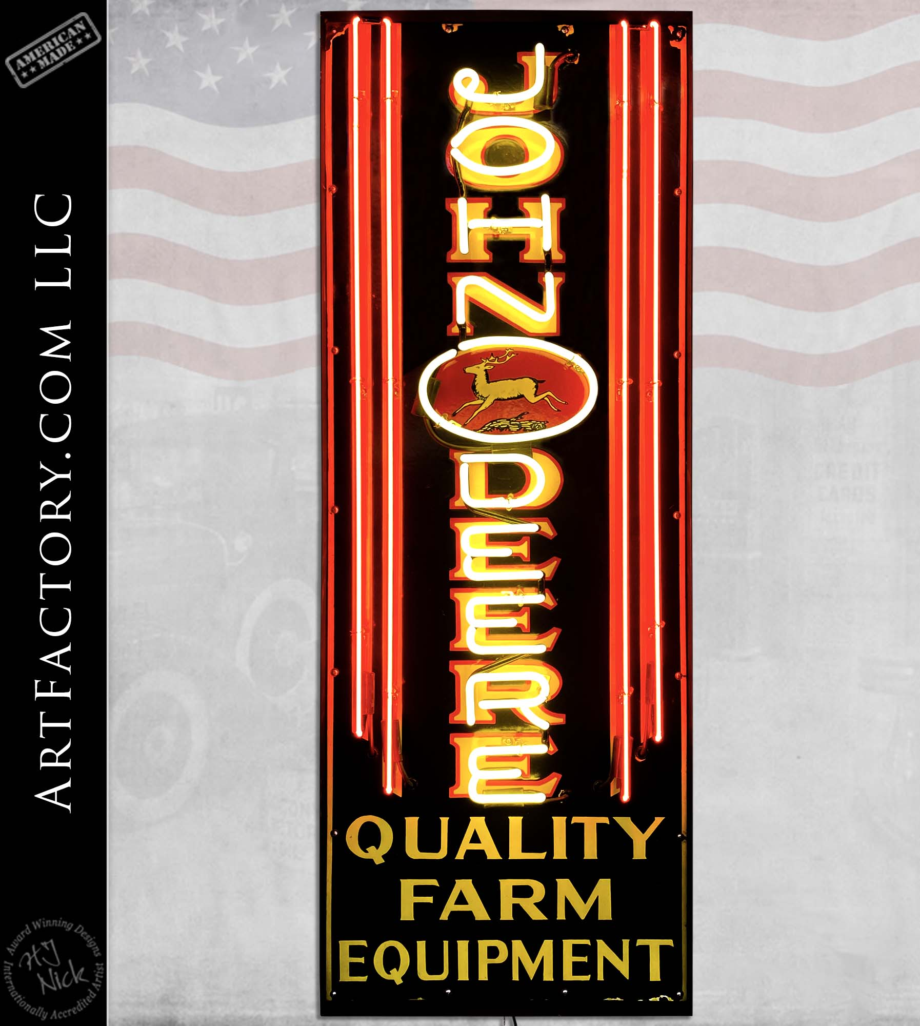 Rare Vintage John Deere Farm Equipment Neon Sign