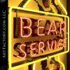 Vintage Rare Neon Bear Service Sign