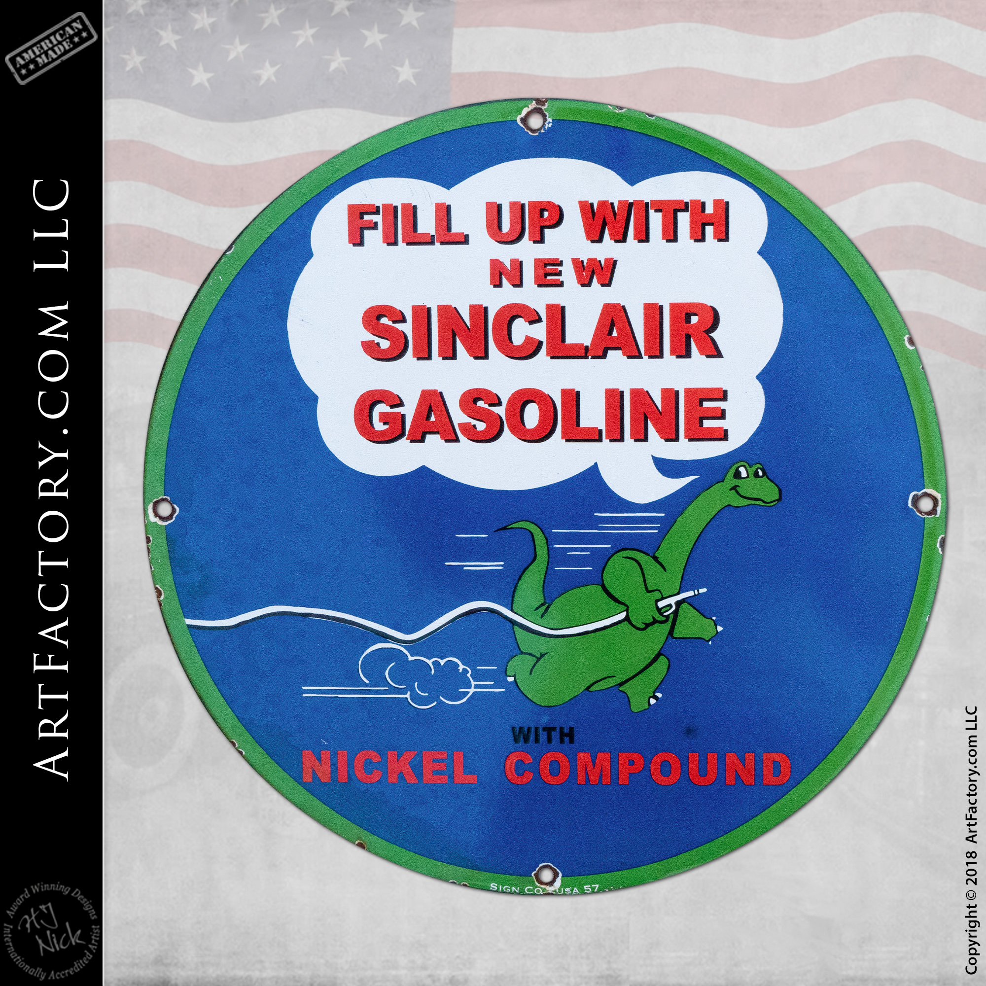 Vintage Sinclair Nickel Sign