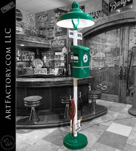 Vintage Restored Sinclair Air Pole: With Water Hose & Island Light