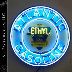 Vintage Neon Atlantic Gasoline Sign