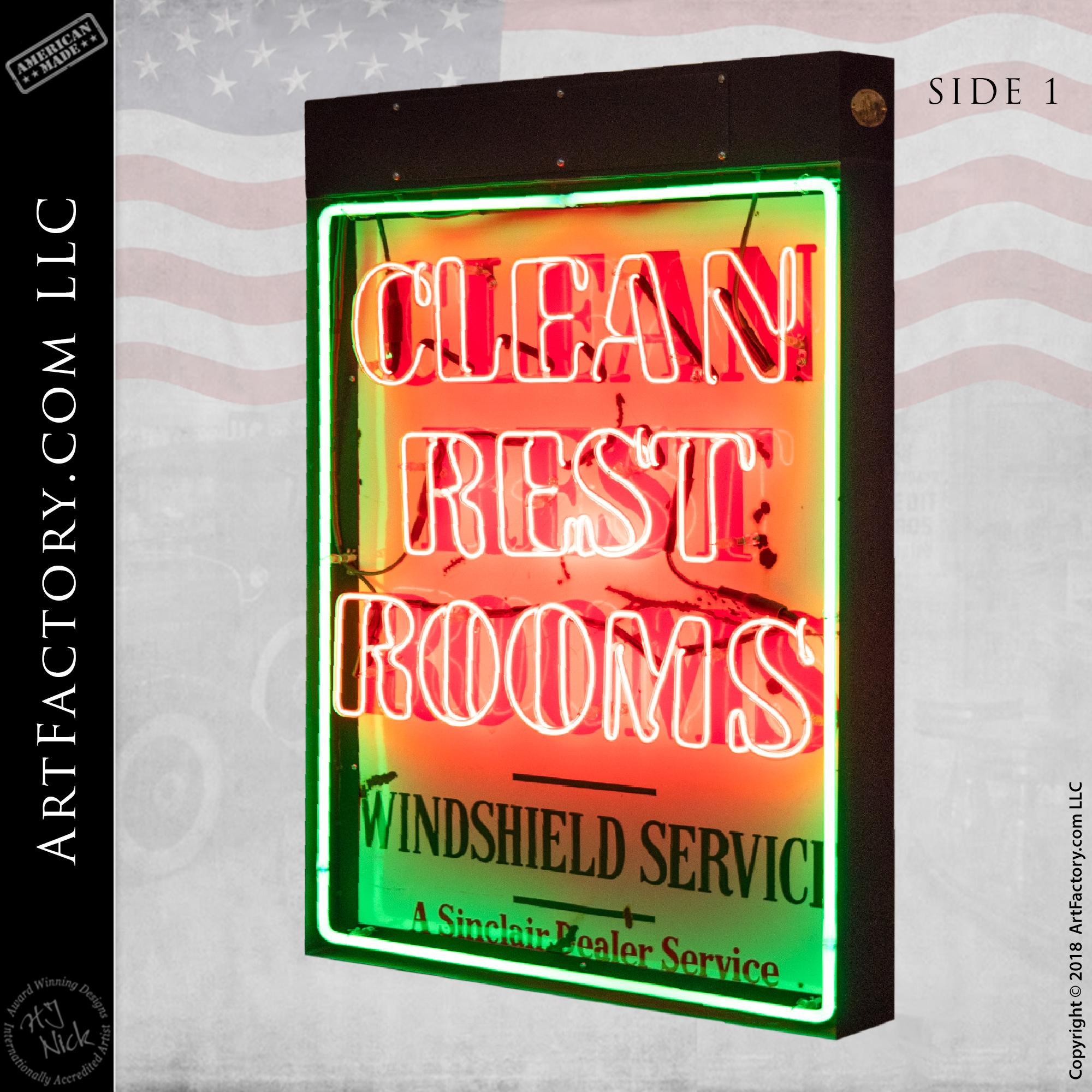 Clean Restrooms Sign #1