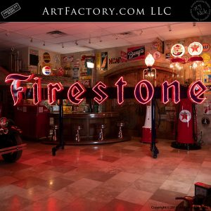 Vintage Firestone Neon Sign
